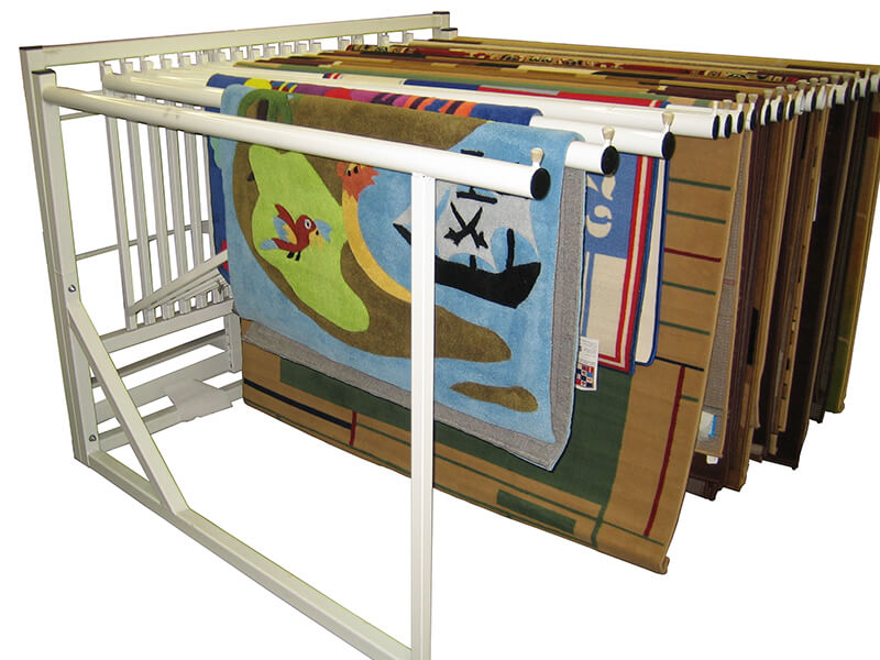 Half Swinging Rug Rack